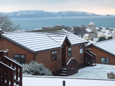 A snowy Beverley Holiday Park