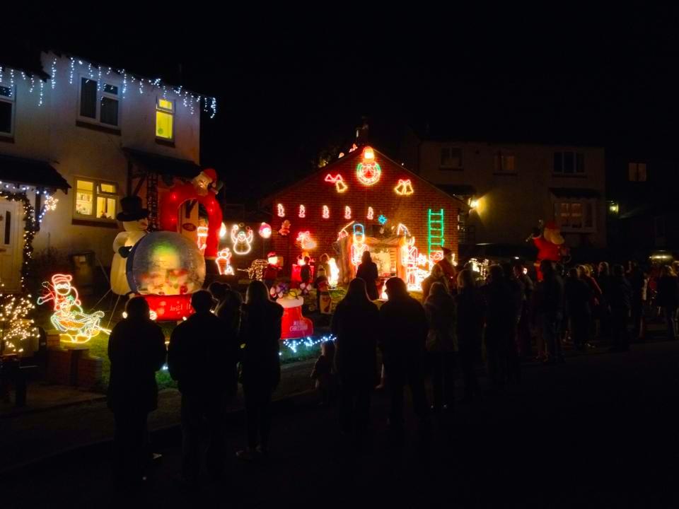 Andys Charity Christmas lights display
