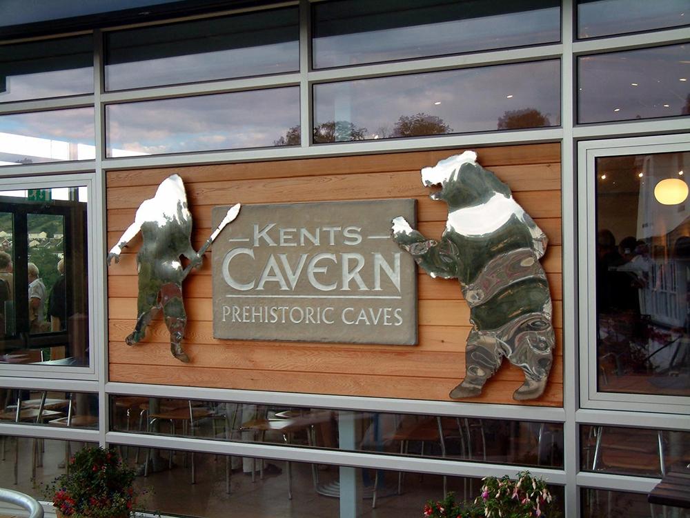 Kents Cavern sign