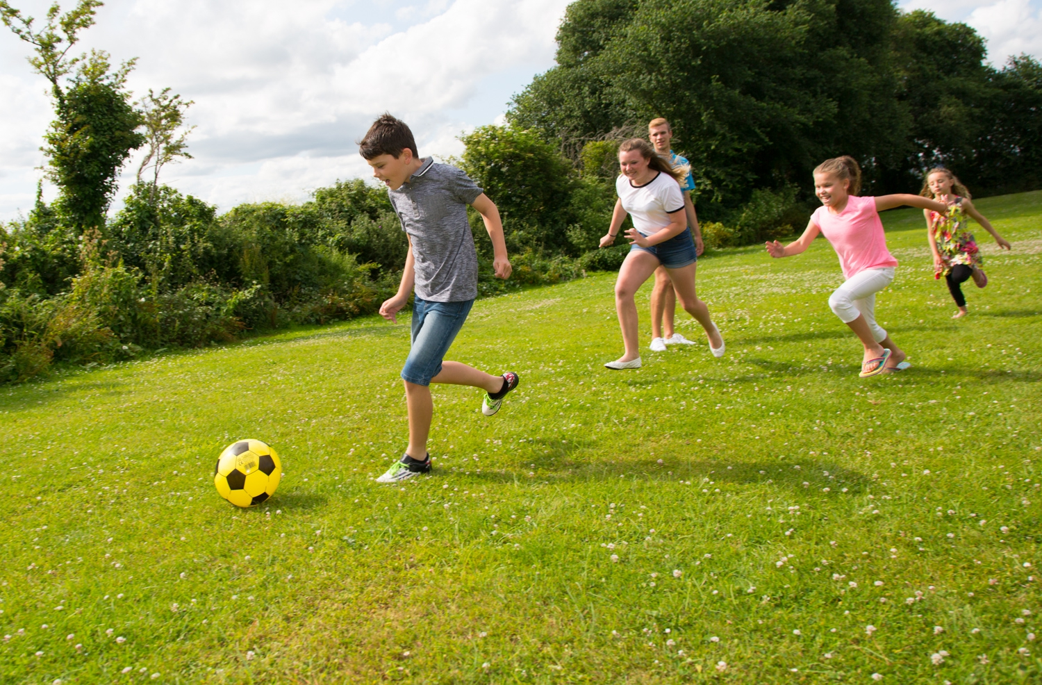 Beverley Holidays football kids
