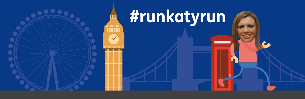 Katy runs London Marathon