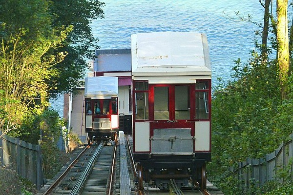 Babbacombe Cliff Railway carriages