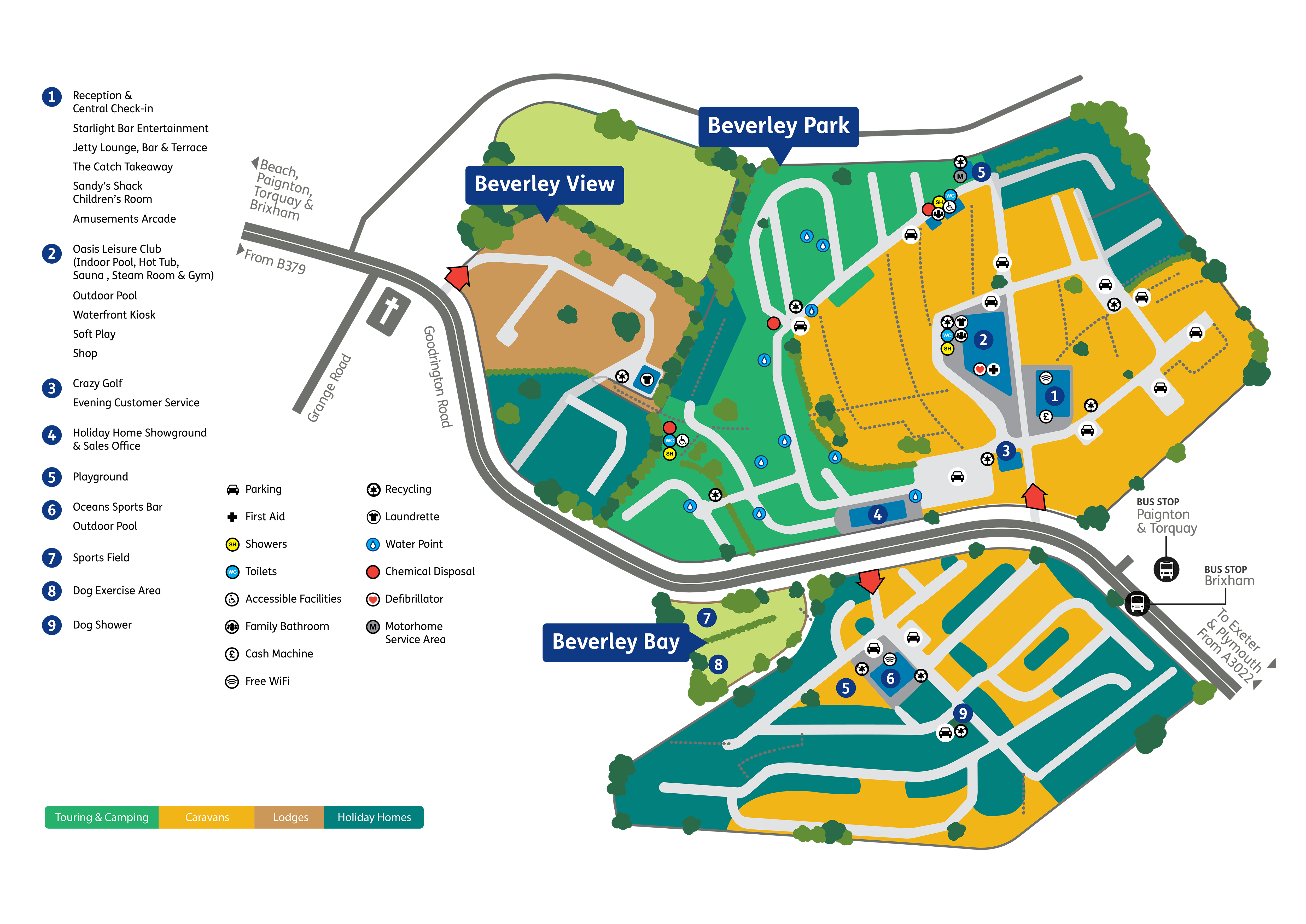Beverley Holidays Park Map