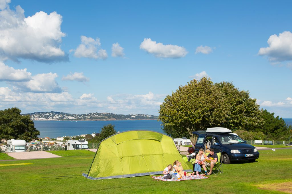 Camping in Devon at Beverley Park
