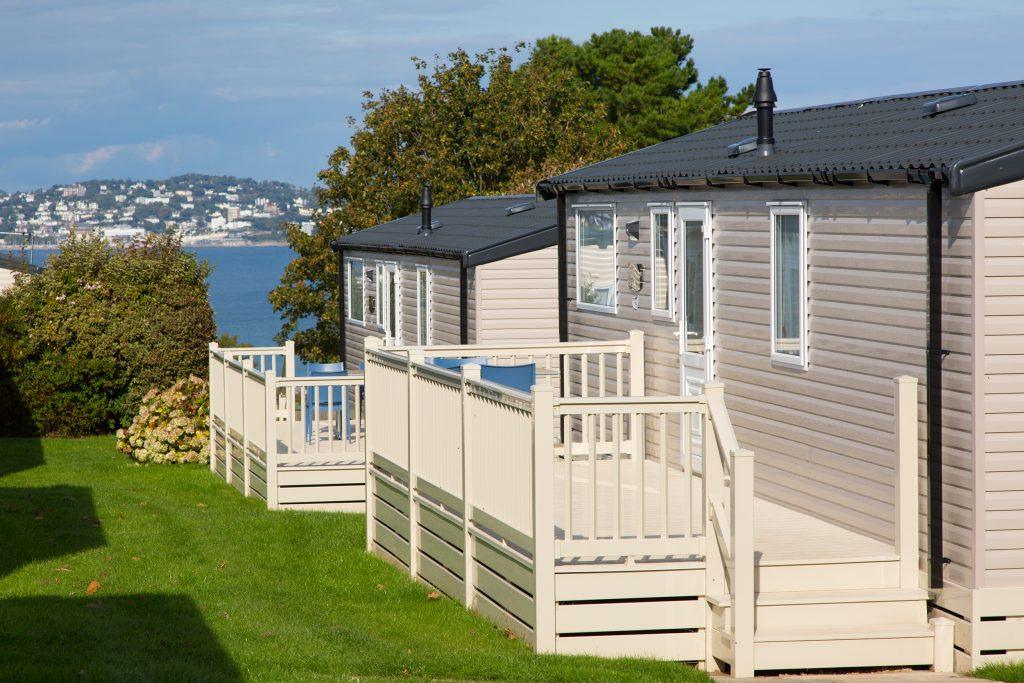 Sea view caravan holidays. Devon holiday parks.
