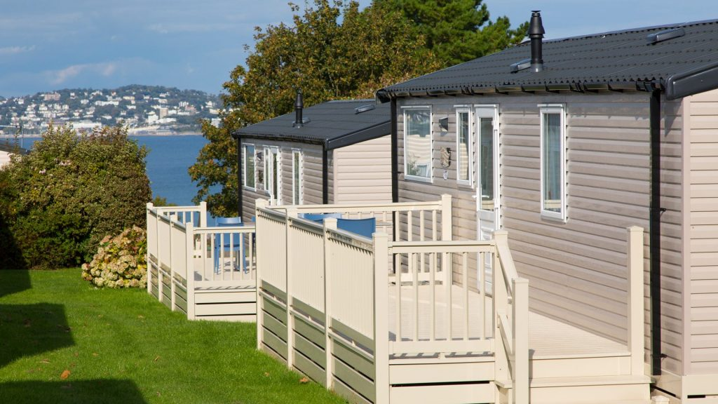 Sea view caravan holidays.